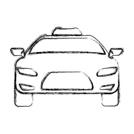 city lights: Taxi cab service icon vector illustration graphic design