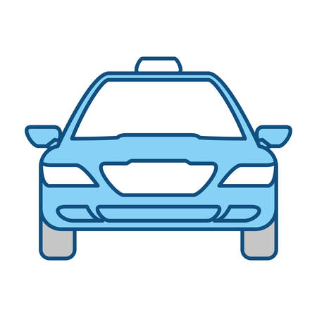 window view: Taxi cab service icon vector illustration graphic design