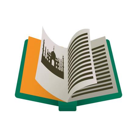 India tourism book icon vector illustration graphic design Illustration