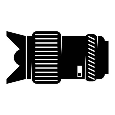 Camera lens accessory icon vector illustration graphic design