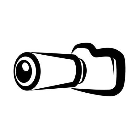 Professional photographic camera icon vector illustration graphic design Ilustração