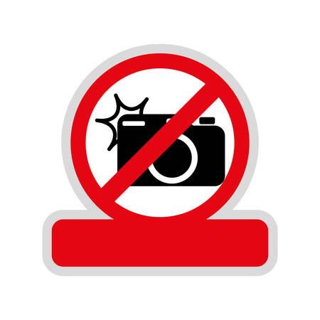 Prohibited camera sign icon vector illustration graphic design Illustration