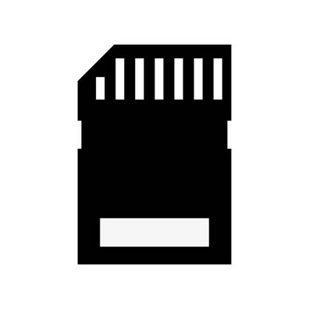adapters: Memory card icon vector illustration graphic design Illustration