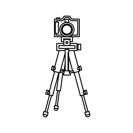 photography equipment: Professional photographic camera icon vector illustration graphic design Illustration