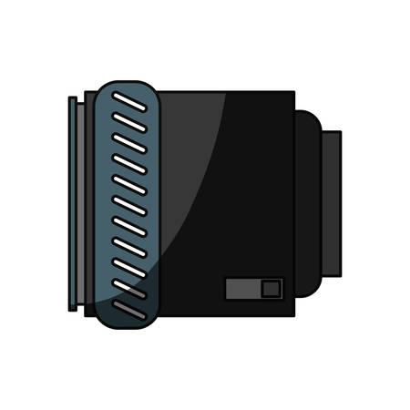 Camera len accesory icon vector illustration graphic design Ilustração