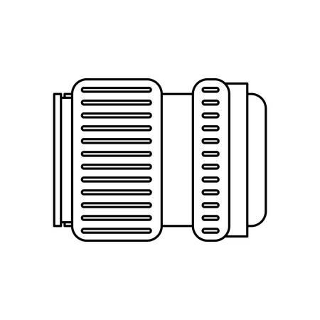 Camera len accessory icon vector illustration graphic design