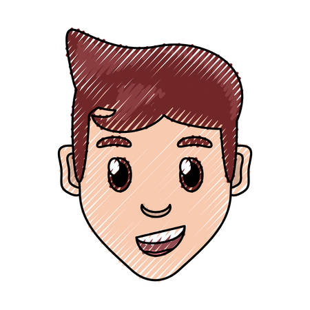 funny pictures: Boy face cartoon icon vector illustration graphic design