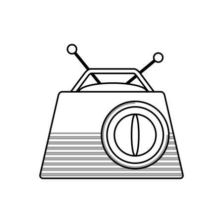Old radio stereo icon vector illustration graphic design Illustration