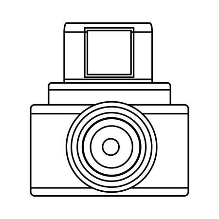 Vintage fotografische Kamera-Symbol Vektor-Illustration Grafik-Design Standard-Bild - 80686437