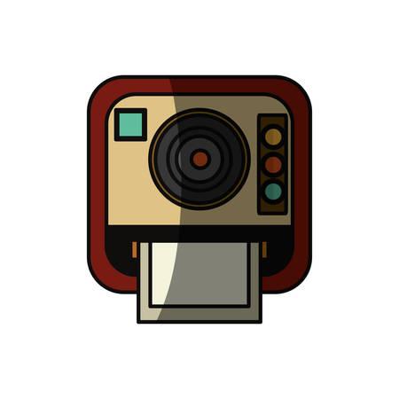 Vintage fotografische Kamera-Symbol Vektor-Illustration Grafik-Design Standard-Bild - 80686510