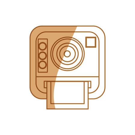 Icono de la cámara fotográfica de la vendimia ilustración vectorial diseño gráfico Foto de archivo - 80686516