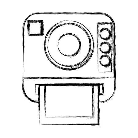 Icono de la cámara fotográfica de la vendimia ilustración vectorial diseño gráfico Foto de archivo - 80686719