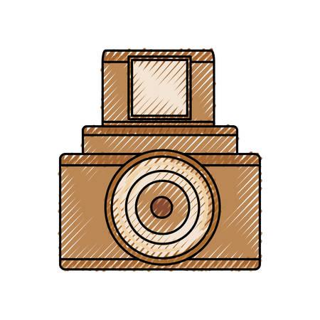 Vintage fotografische Kamera-Symbol Vektor-Illustration Grafik-Design Standard-Bild - 80686724