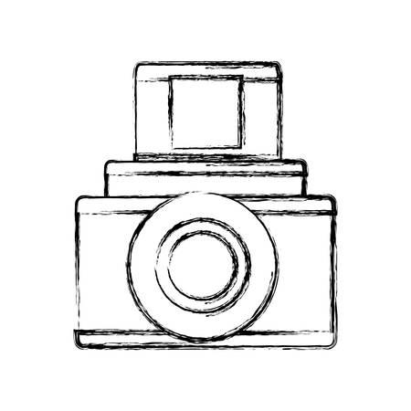 Vintage fotografische Kamera-Symbol Vektor-Illustration Grafik-Design Standard-Bild - 80686722