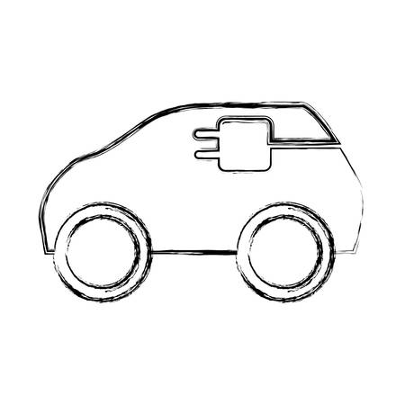 Electric car vehicle icon vector illustration graphic design