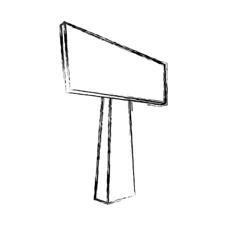 roadsign: Empty signpost isolated icon vector illustration graphic design Illustration