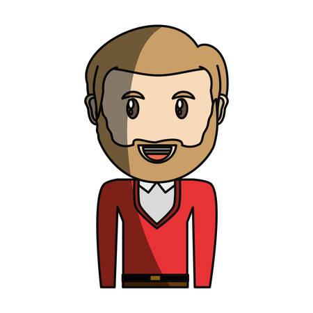 大人の顔漫画アイコン ベクトル イラスト グラフィック デザイン