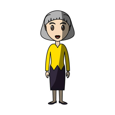 Adult woman cartoon icon vector illustration graphic design Illustration