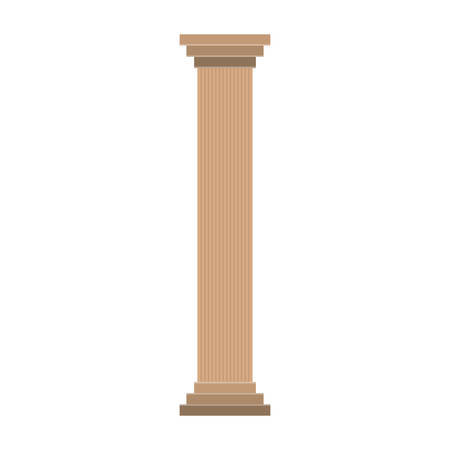 districts: pillard icon over white background colorful design vector illustration Illustration