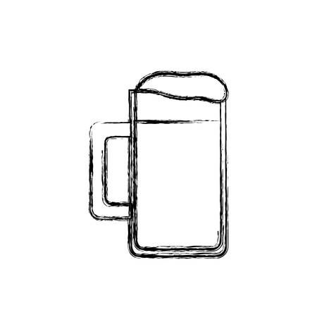 brewed: beer jar icon over white background vector illustration