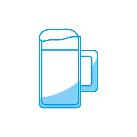 beers: beer jar icon over white background vector illustration