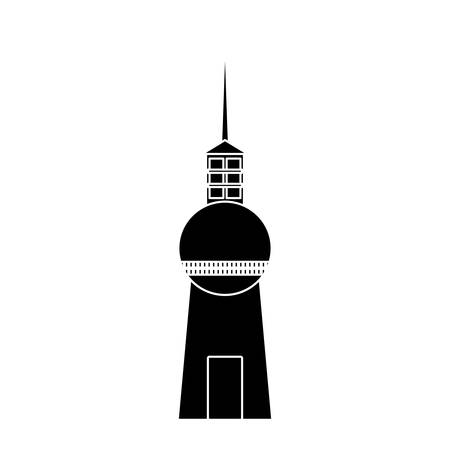 tv tower: berlin tv tower icon over white background vector illustration