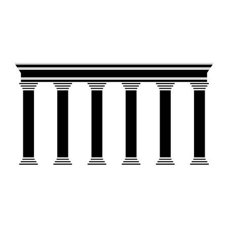 districts: pillars icon over white background vector illustration