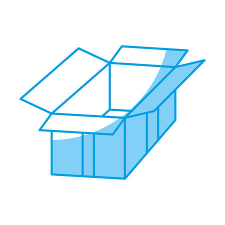 opened: opened carton box icon over white background vector illustration