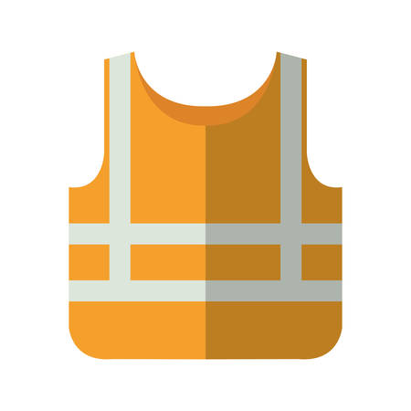 Safety vest icon over white background industrial security concept vector illustration