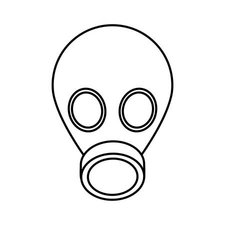 Gas mask icon over white background industrial security concept vector illustration