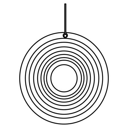 dart board: Isolated target shooting icon vector illustration graphic design