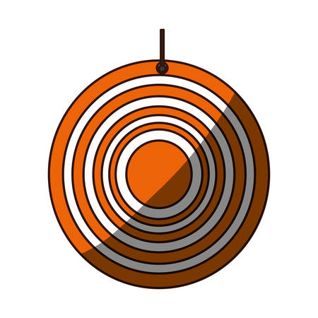 gun holes: Isolated target shooting icon vector illustration graphic design