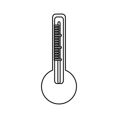 growth hot: Isolated temperature thermometer icon vector illustration graphic design Illustration