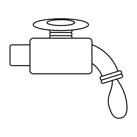 cleanliness: Isolated water faucet icon vector illustration graphic design