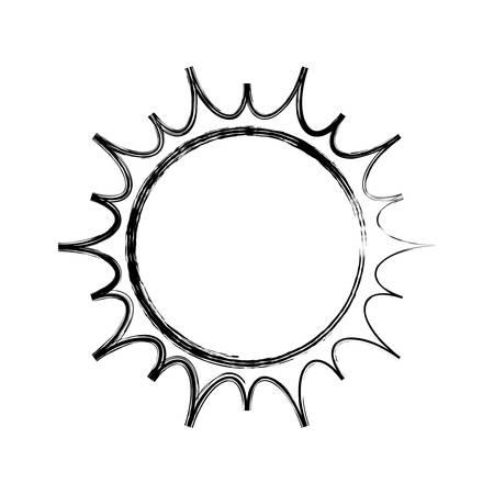 isolated big sun icon vector illustration graphic design
