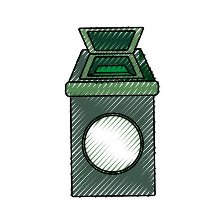 refuse: isolated ecologic trash can icon vector illustration graphic design