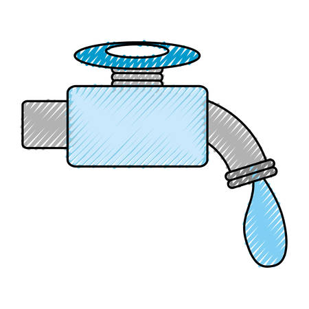 An isolated water faucet icon vector illustration graphic design