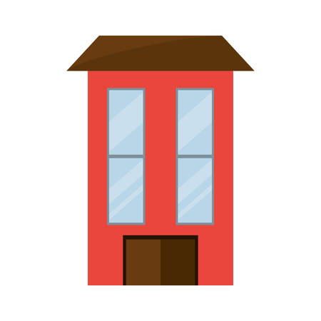 garage on house: isolated big house icon vector illustration graphic design