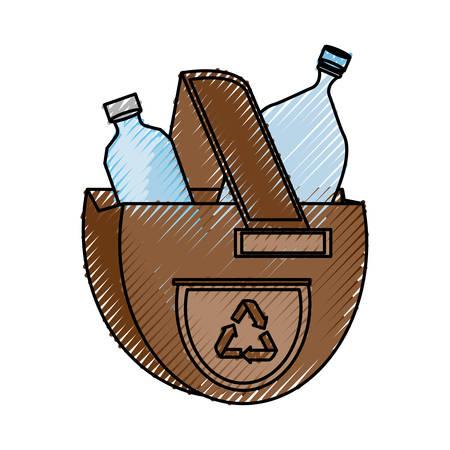 isolated ecologic bag icon vector illustration graphic design