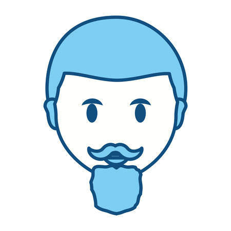 funny pictures: Adult face cartoon icon vector illustration graphic design