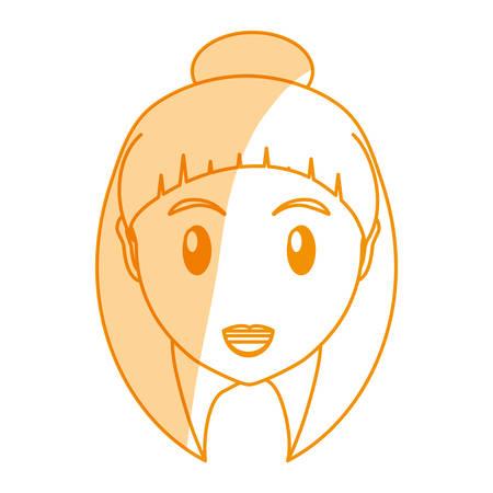 woman face cartoon icon vector illustration graphic design