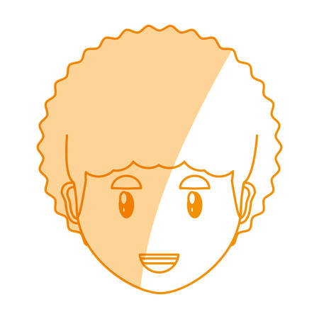 funny pictures: Young man face cartoon icon vector illustration graphic design