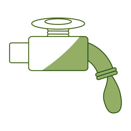 leak: isolated water faucet icon vector illustration graphic design