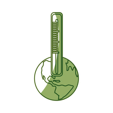 growth hot: isolated earth thermometer icon vector illustration graphic design