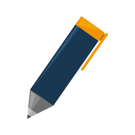 pen and marker: isolated cute pen icon vector illustration graphic design