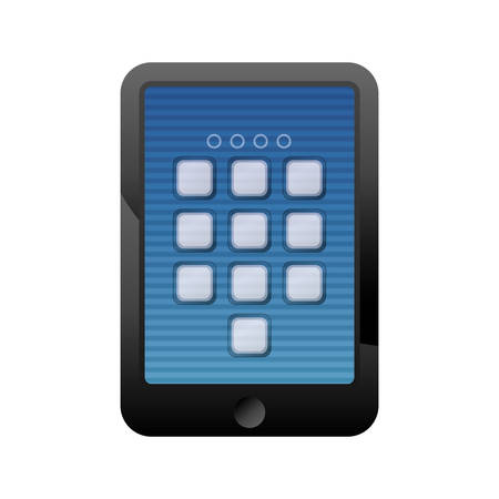 secure: digital security tablet icon vector illustration graphic design