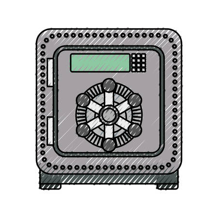 secure: isolated security box icon vector illustration graphic design Illustration