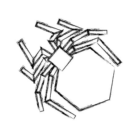menace: isolated hacker virus spider icon vector illustration graphic design Illustration