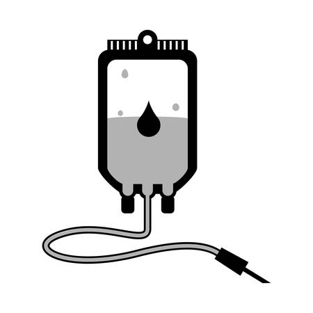 give: isolated donate blood bag icon vector illustration graphic design