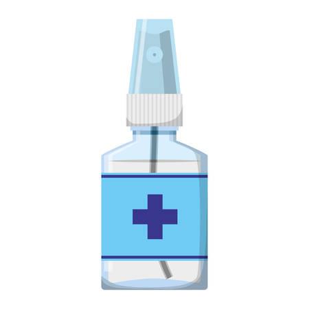 dosage: Isolated medicine liquid bottle icon illustration graphic design. Illustration